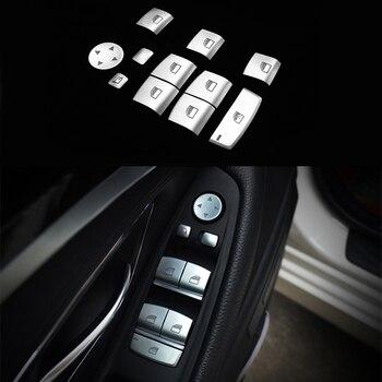 11pcs Chrome Window lift button switch sequin Cover Trim For BMW X3 F25 11-17&X4 F26 15-17 & X5 F15 F85 14-17 & X6 F16 F86 15-17