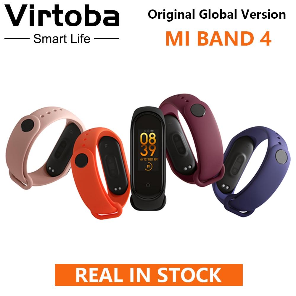 EN STOCK! Bracelet intelligent Original XIAOMI Mi Band 4 0.95 ''AMOLED 2.5D en verre trempé HR Fitness 135 mAh Bluetooth 5.0 50 M natation