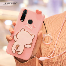 LOFTER 3D Cute Shockproof Strap Ring Holder Phone Case For Huawei Nova 4 Stand Silicone Soft Cartoon Protective Back Cover