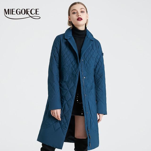 MIEGOFCE2019 Новая Коллекция От Дизайнера Весна Женская Парка Пальто Теплая Куртка Для Женщин Тонкая Хлопковая Ткань Пальто