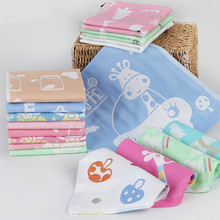 26x26cm Animal motifs Gauze cotton fabrics child towel Hand Towel wholesale Home Cleaning Face for baby Kids High Quality