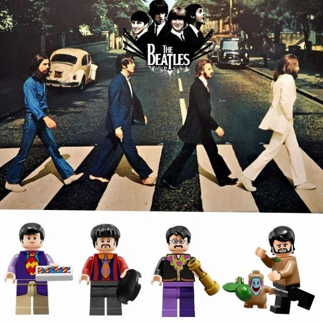 Figura de Ação Filme de John Lennon Legoing Ringo Starr Blocos Building Block Compatível Com Legoings Marvel Brinquedos Para As Crianças
