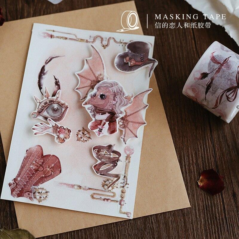 1 Pcs DIY Retro Paper Washi Masking Tapes Steampunk Decorative Adhesive Tape Scrapbooking Stickers/School Supplies