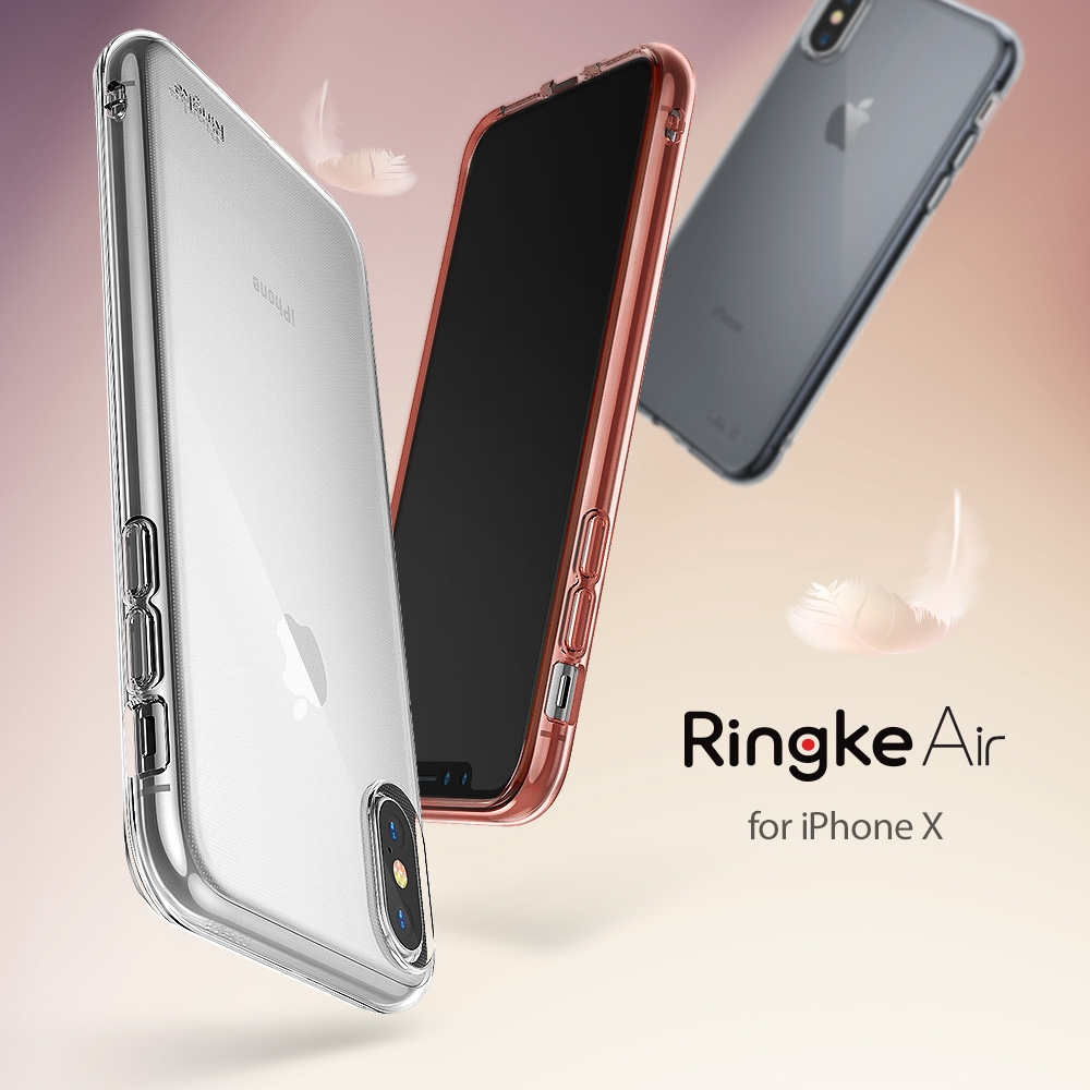 Ringke Air Case for iPhone X Extreme Lightweight Transparent Soft Flexible TPU Scratch Resistant Protective Case