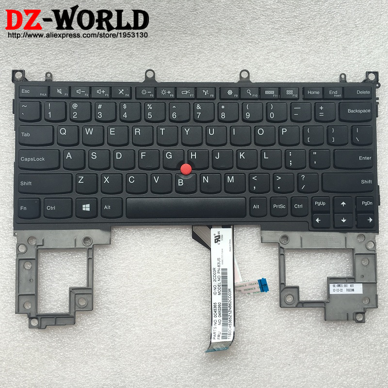 New Original for Lenovo Thinkpad HELIX TYPE-3XXX Keyboard Teclado US English 04X0260 04X0261 0C45365 new original for lenovo thinkpad e560p s5 us english backlit keyboard backlight teclado 00ur628 00ur591