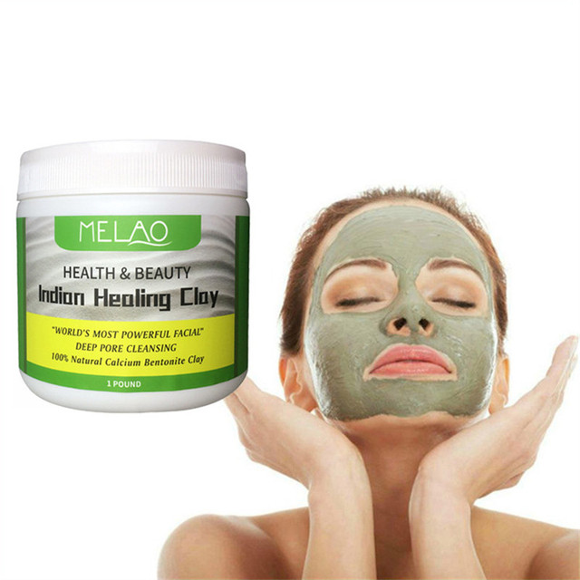 Deep Cleansing Indian Healing Clay Face Mask Powder Natural Skin Pore Moisturizing Replenishment Oil Control Shrink Pores