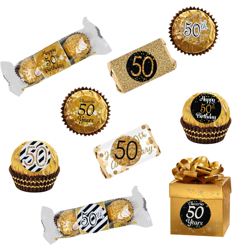 Image 3 - 6 Page Happy 30/40/50 Birthday Paper Sticker 30 40 50 Year Old Event Party Gift and Candy Food Stickers Anniversary Party Decor-in Party DIY Decorations from Home & Garden