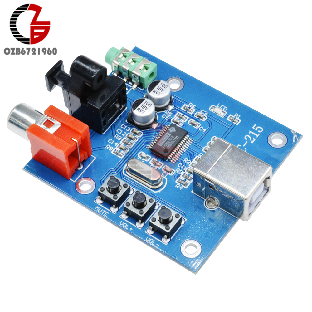 PCM2704 USB DAC to S/PDIF Sound Card Decoder Board 3.5mm Output F/PC 2 Channel Analog Output pcm2704 usb dac to s pdif sound card 3 5mm analog output audio decoder board