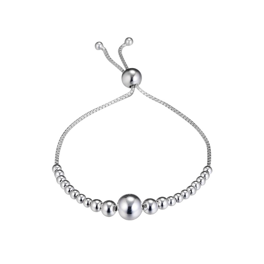CKK Bracelet String of Beads Sliding 100% 925 Sterling Silver Fine Bracelets Jewelry Gift for Women Pulsera Hombre PFB063CKK Bracelet String of Beads Sliding 100% 925 Sterling Silver Fine Bracelets Jewelry Gift for Women Pulsera Hombre PFB063
