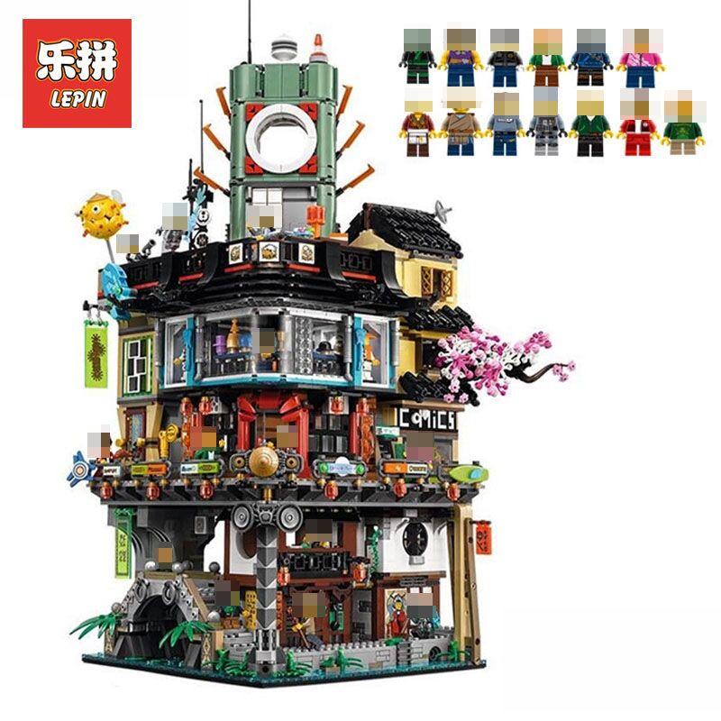 Lepin 06066 4932Pcs Movies Series NINJAGO City Model Building Blocks Bricks Educational Toys LegoINGlys 7062 for Children gift