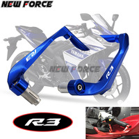 Universal 7/8 22mm Motorcycle Handlebar Brake Clutch Levers Protector Guard For YAMAHA YZF R3 YZFR3 2015 2016