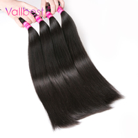 Brazilian Straight Hair Human Hair Bundle 1B Natural Black Brazilian Hair Weave Vallbest Non Remy Hair