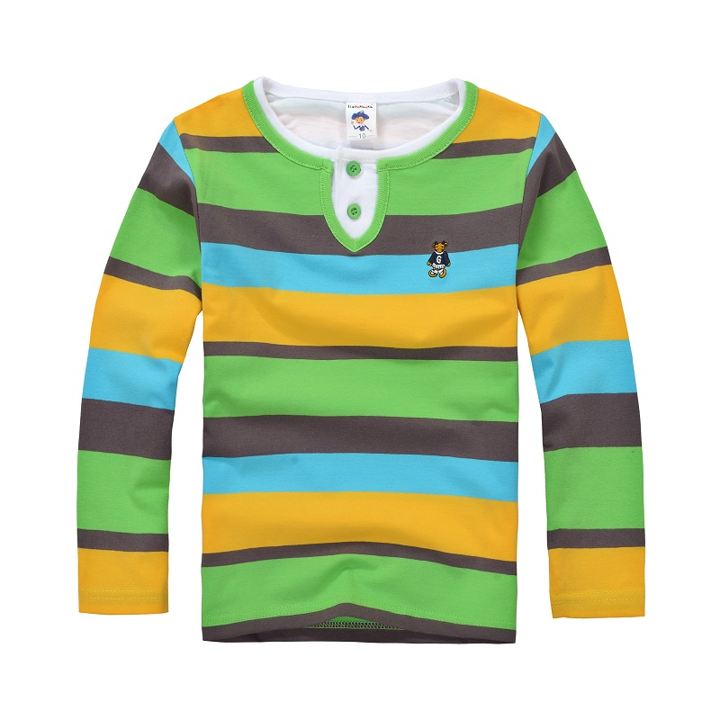 a0124184b72 High Quality Boys T shirts Long Sleeve Children Sweaters Stripe Pattern  Baby Boys Girls Unisex Tops Brand New Fashion Tees-in T-Shirts from Mother    Kids on ...