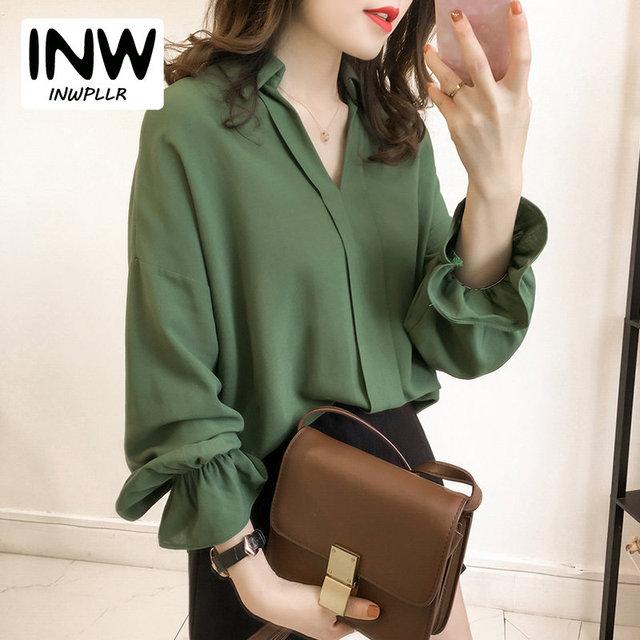 dbabdbeaa29 M-4XL Plus Size Tops Women Shirt 2019 Fashion Long Sleeve Women s Tops And  Blouse