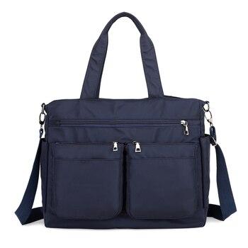 Новые женские сумки, модные водонепроницаемые сумки Оксфорд, Повседневная нейлоновая сумка на плечо, вместительная холщовая сумка-мессенд...