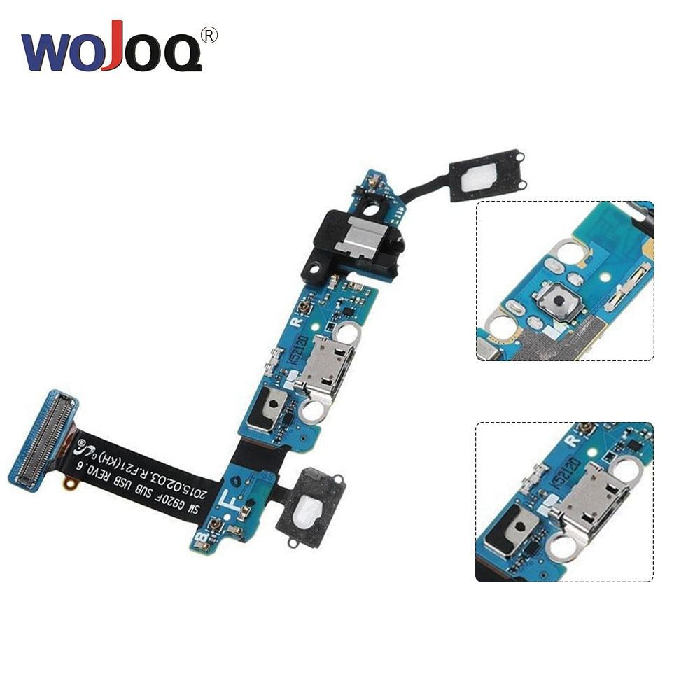 WOJOQ Original For Samsung S6 G920 G920T G920A G920I G920P G920V G920F Dock Connector USB Charging Port Flex Cable Repair Parts