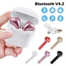 Универсальные беспроводные наушники Bluetooth 4,2, стерео наушники для воспроизведения музыки, наушники-вкладыши для звонков, спортивные наушники для IPhone, samsung, huawei