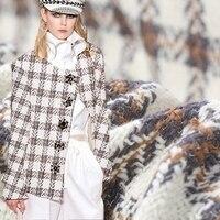 Moda renkli yün yün ceket tissu au için dokuma tüvit kumaş metre patchwork tecidos tecido para roupa tissus telas DIY