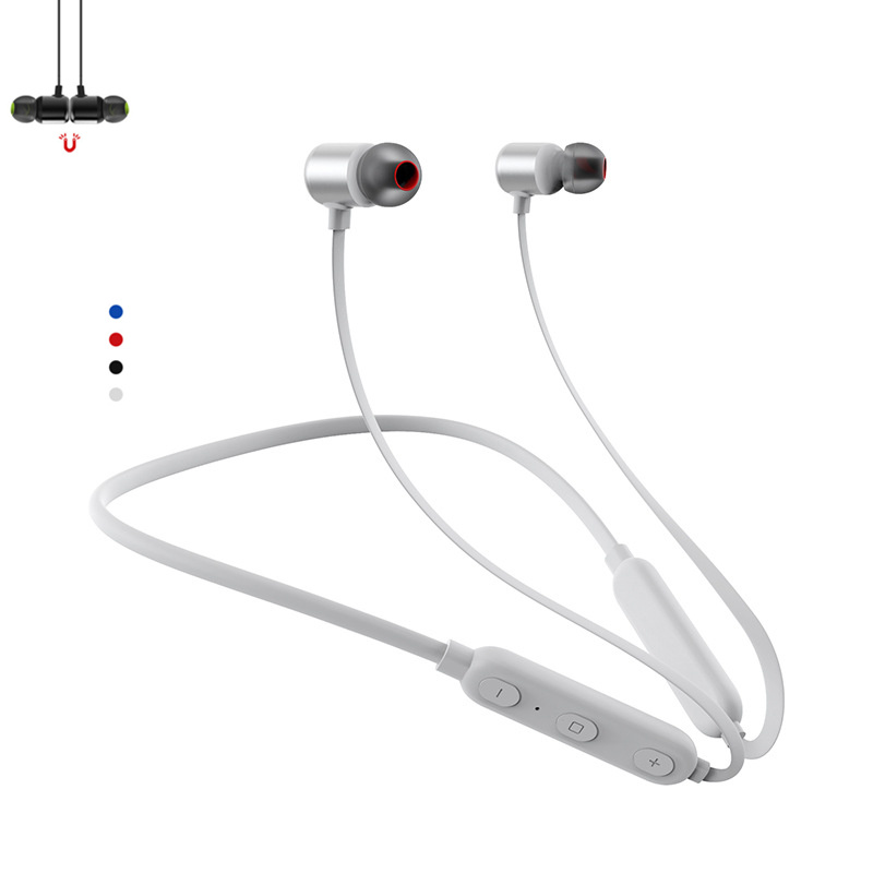 Bluetooth Sport Neckband Headphone Magnetic Plug Microphone For Xiaomi iPhone Car iPhone Samsung Earphone Player Earbud Heaedset