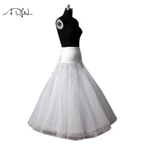 Image 5 - 새로운 도착 고품질의 라인 웨딩 신부의 페티코트 Underskirt Crinolines 성인 웨딩 드레스