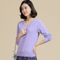 High Quality 10 Colors Autumn Winter 2015 NEW European Style Women Fashion Outwear Pullovers Knitted Cashmere