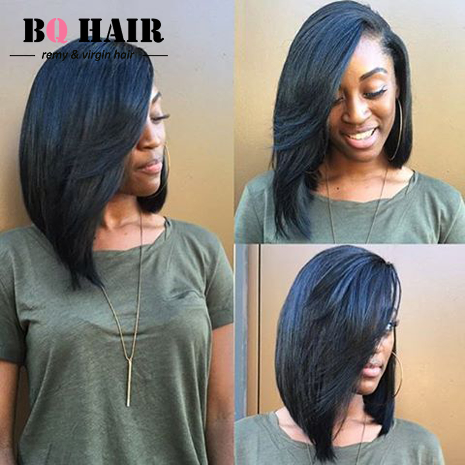 Weave in a bob hairstyle fade haircut bq hair 8a remy bundles straight weave bob hairstyle 100 malaysia urmus Choice Image