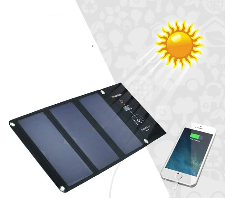 New 21W Foldable Solar Cells Charger Backpack Sunpower Solar Panel Charger with Dual USB for Mobile Phone Solar Battery sunwalk elegeek 21w foldable portable solar panel charger battery 18v solar mobile phone cellphone charger for phones tablets