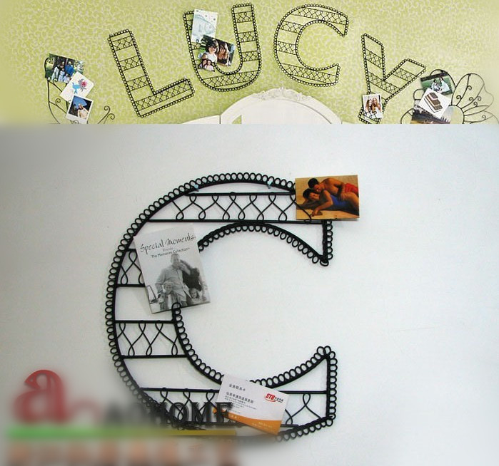 Aliexpress Com Buy Metal Home Decor Metal Wall Art Diy Letter Combinations C As Photo Holder And Wall Decoration 37cm Free Shipping From Reliable