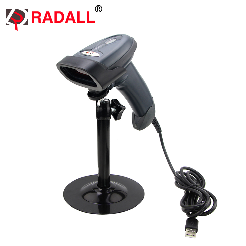 Free shipping! RD-1330 Automatic Laser Wired Code Reader Handfree Plug and Play Auto Barcode Scanner with Cradle for Suermaket