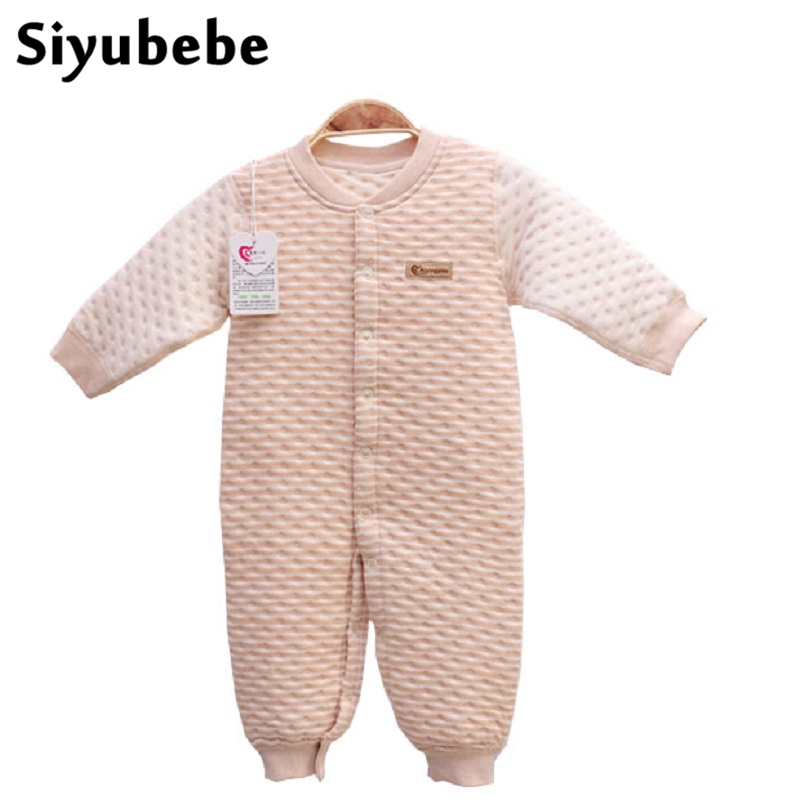 Newborn Baby Rompers Thicken Long Sleeve Organic Cotton Autumn Winter Clothes Bebe Boys Girls Baby Costume Clothing Jumpsuits christmas newborn cashmere baby rompers infant clothing winter warm thicken cotton baby jumpsuit long sleeve boys girls sweater