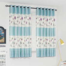 Modern Specials short Pastoral semi-shade Curtains Kids Room Lovely Printed Bedroom Baby Window Drapes