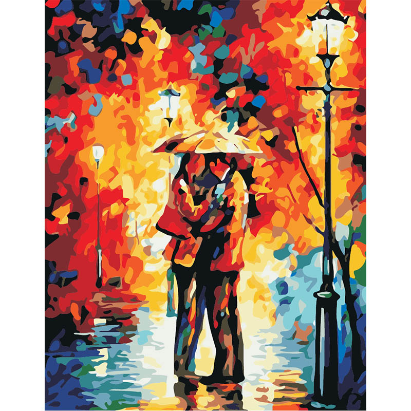 Us 16 93 40 Off Tiger And Beauty Pictures By Numbers Canvas Oil Painting Home Decor Wall Art Hand Painted Artwork Unique Gift Living Room In Paint