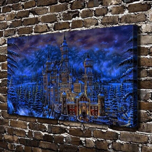 910195f4c8 10064 Da Sera Castelli Fantasy Art Paesaggio. HD Stampa Su Tela della  decorazione della Casa
