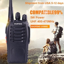 2pcs Baofeng 888s Portable walkie talkie 5W 16CH UHF 400-470MHZ BF 888S Comunicador Transmitter Transceiver