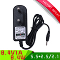 2pcs/lot power charger 8.4V 1A ac dc lithium battery charger