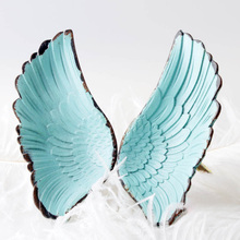 Wing Single Hole Small Handle Modern Minimalist Fashion Children's Room Wardrobe Door Fantasy Knob and Pull Wings Drawer Pull