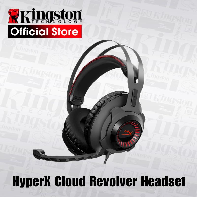 Kingston Gaming Headset HyperX Cloud Revolver Black Headphones With a microphone kingston hyperx cloud revolver black игровая гарнитура