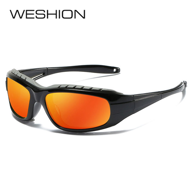 4220d03f02e WESHION Polarized Sunglasses Men Women 2018 Sport Sun glasses Brand  Designer Clout Goggles Vintage UV400 Reflective
