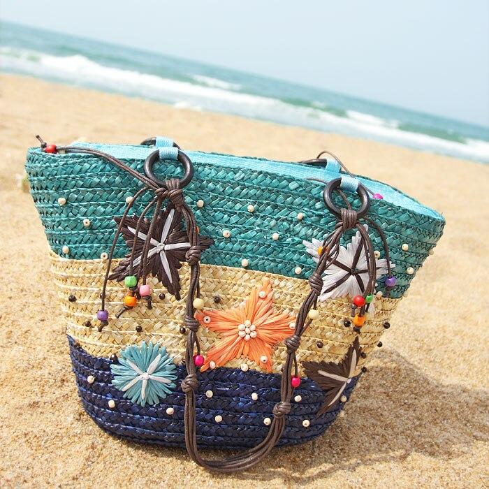 Artwork Designer Pink Beach Bag Summer for Ladies Girl Women Beach Bag Large Shoulder Bag 2016 Women Bag Beach