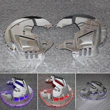 Аксессуары для мотоциклов хромированные тормозные диски роторы крышки с красным синим белым светодиодный светильник для Honda GOLDWING GL1800 2001