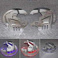 Motorcycle Accessories Chrome Brake Disc Rotors Covers With Red blue White LED Light For Honda GOLDWING GL1800 2001 2015