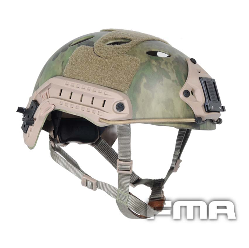 FMA Outdoor Cycling Helmet Airsoft Painball CS Protective FAST Helmet-PJ TYPE A-Tacs FG tb470 купить