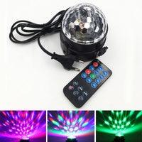 Big Promotion Remote Control Colorful Mini Stage Light RGB Effect Lighting LED Lamp for House Party DJ Bar US/ EU Plug 110V 220V