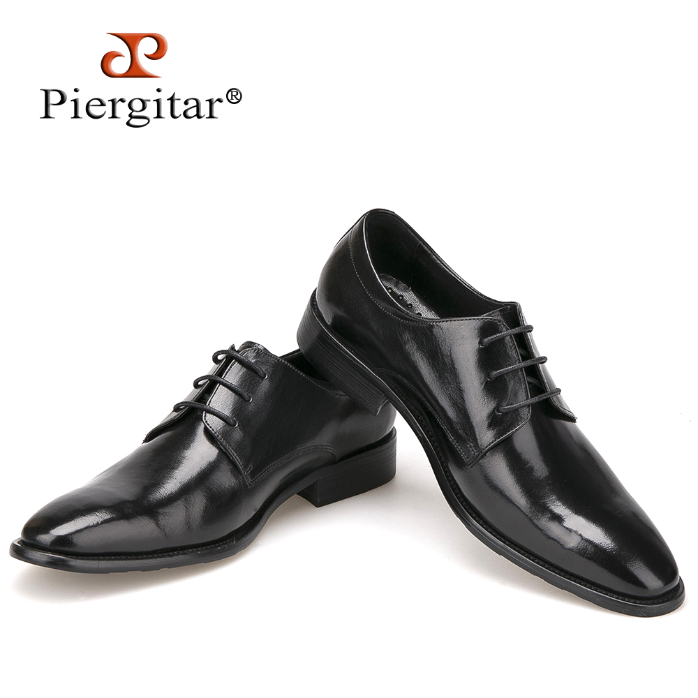 2018 Fashion British Style High Quality Genuine Leather Men Oxfords Lace Up Business Men Shoes Wedding