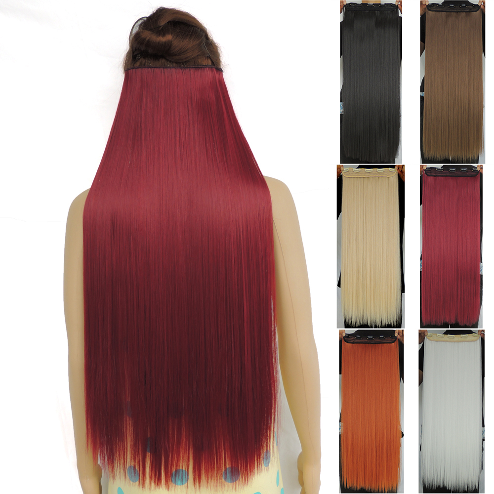 120g 28 inch long clip in hair extensions straight. Black Bedroom Furniture Sets. Home Design Ideas