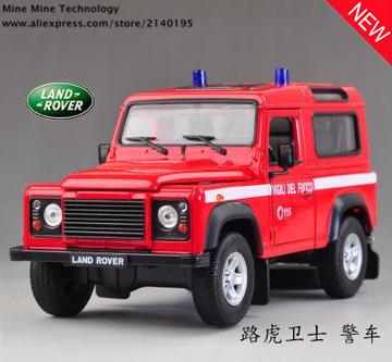1:24 el envío libre rover defender Aleación Diecast modelo de Juguete Modelo de Coche de bomberos Electronic con Niños Juguetes de Regalo