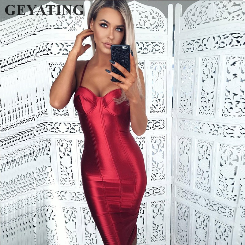 2019 Sexy Sheath Gold Cocktail Dresses 2019 Short Knee Length Formal Party Dress Spaghetti Straps Women Midi Wine Red Prom Dress