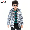 ZiKa Winter Jacket Boy Coats Korean Kids Outerwear Children Camouflage Coat Hooded  Warm Thicken Boys Parkas Coats  tyh-20981