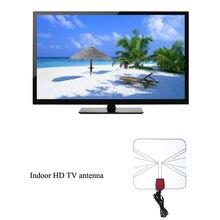 Promoción caliente TV Amplificada Cubierta Plana HD Digital TV Caja Piso Diseño de Alta Ganancia de Antena 75 OHM Negro