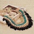 2016 femme collier declaración beads choker collares collares y colgantes de oro de bohemia resina colar para las mujeres accesorios de la joyería
